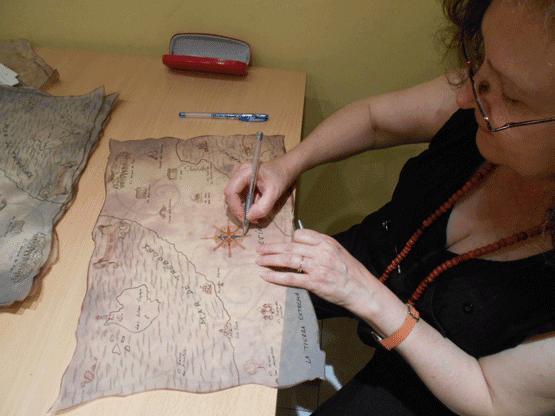 Mapa de tréboles y diamantes