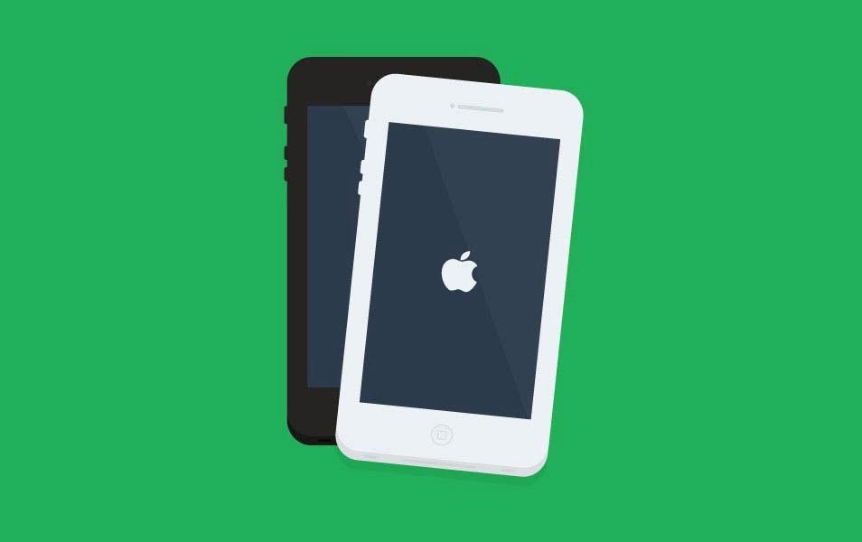 Iphone Flat PSD Design