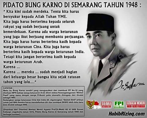 PIDATO BUNG KARNO DI SEMARANG TAHUN 1948