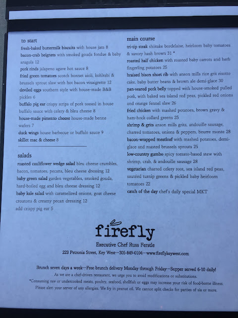 Firefly Restaurant Menu, Key West