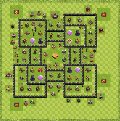 War Base Town Hall Level 10 By medo010 (Deeb TH 10 Layout)