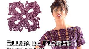 Delicada Blusa de Flores Crochet / Paso a paso