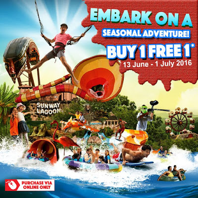 Sunway Lagoon Buy 1 Free 1 Promotion for Admission Ticket