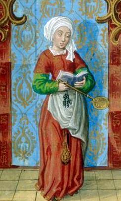 Dibujo de Santa Marta con pañoleta en la cabeza