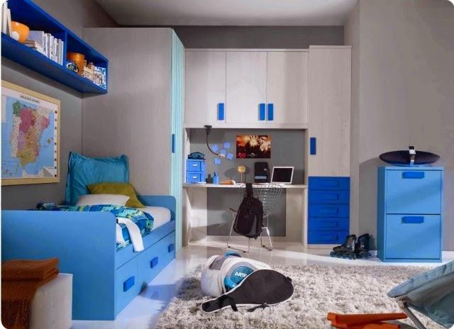 Habitación niño color azul