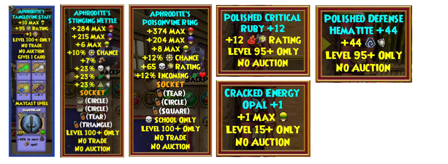 Aphrodite Two - Wizard101 Test Realm Skeleton Key Boss Cheat / Drop Guide