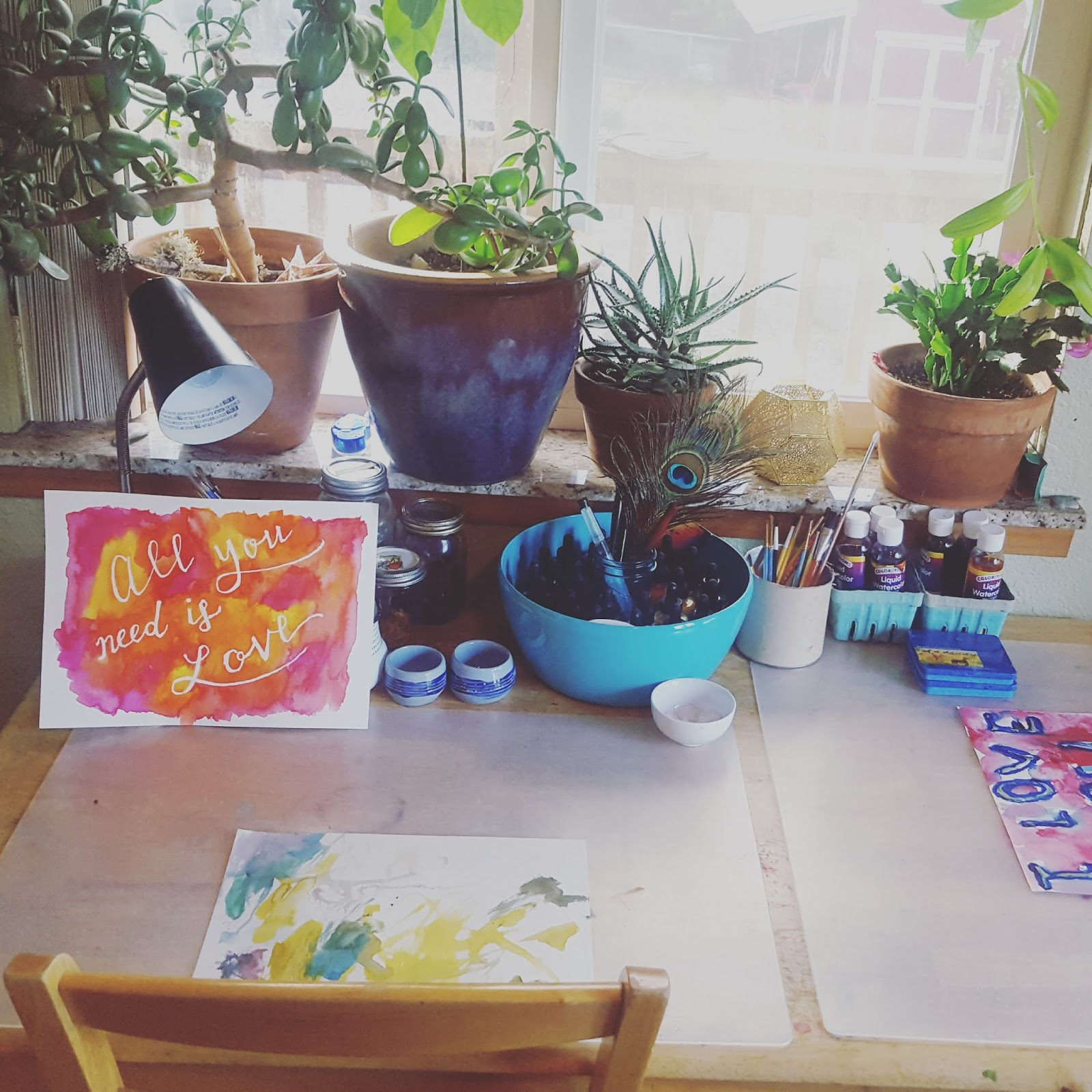 It Doesnt Always Look Like This But I Am Trying To Keep Space In Our Dining Room Kitchen Open For Painting Drawing And Occasional Play Doh