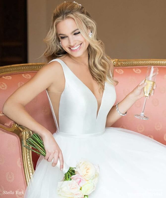 Real Brides Wearing Stella York: Stella York Spring 2018 Bridal Collection