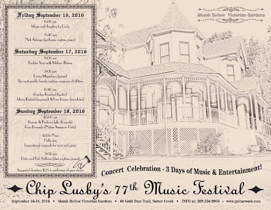 Chip Lusby 77th Music festival Sept 16-18 Sutter Creek