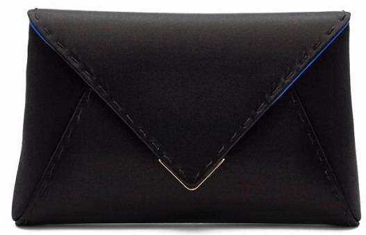 Tyler Alexandra's Lee clutch in black satin