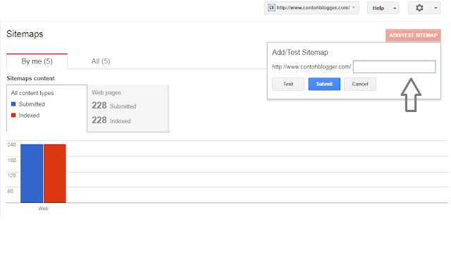 langkah submit sitemap atau peta situs pada google webmaster tools