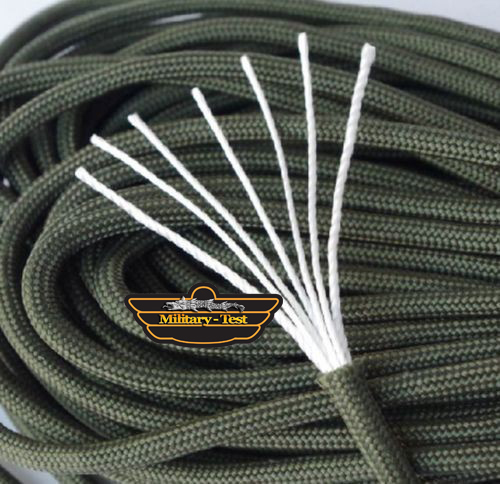 Snur Sfoara Paracord Olive / verde 30.5m - 7 fire - foarte rezistenta Snur