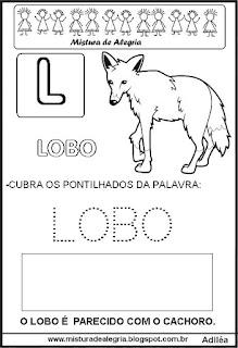 Bichonário desenho de lobo