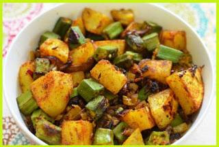 Aloo Bhindi Fry Recipe