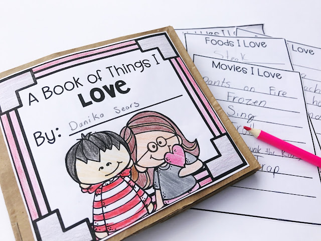 Valentine's Day Craft Paper Bag Book