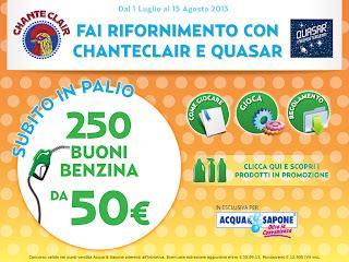 Logo Concorso Chanteclair : vinci buoni carburante da 50 euro