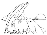 Dolphins jumping realistic coloring pages
