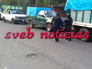 Aseguran 7 camionetas de huachicoleros en Ixtaczoquitlan Veracruz