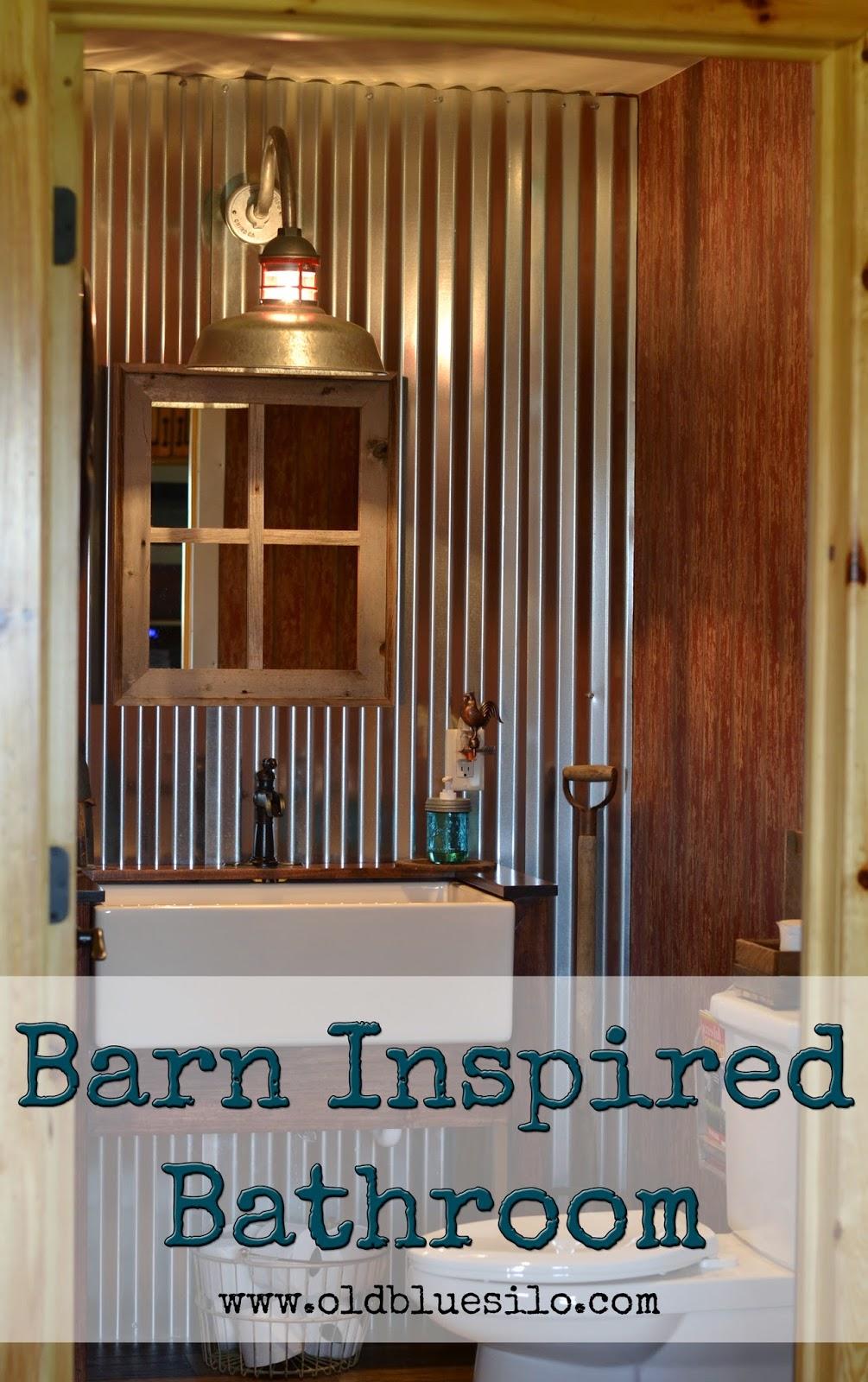 Old Blue Silo: Barnhouse Tour: Barn Inspired Half Bath