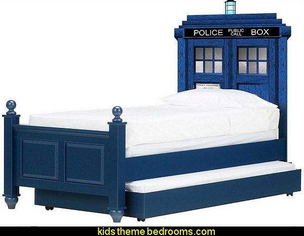 Doctor Who Tardis Headboard Repositionable Wall Graphic Decal Sticker