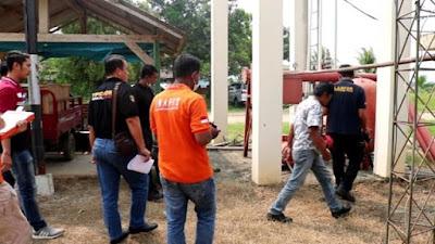 Tim Labfor Bareskrim Mabes Polri Olah TKP Kebakaran Sekretariat Pemkab Pringsewu