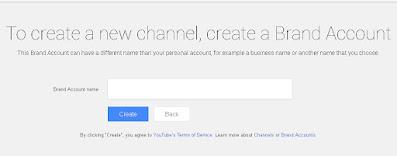 Nah untuk buat channel YouTube di 1 akun atau 1 email lebih dari 1 channel silakan kalian klik Create a new channel