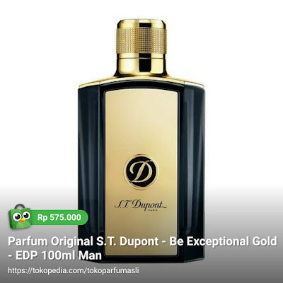 st dupont be exceptional gold edp 100ml man