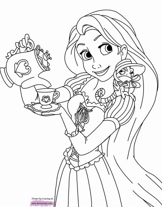 Tranh tô màu nàng công chúa tóc mây 03