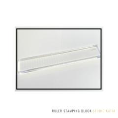 Ruler Stamping Block