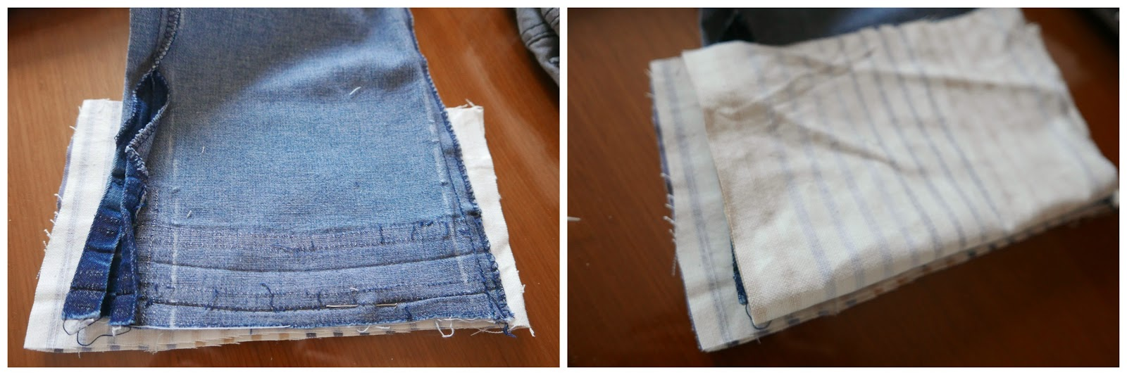 Cortamos a medida de nuestro pantalón el tejido