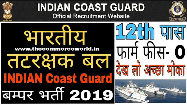 Indian Coast Guard Recruitment 2019 - Navik GD Post