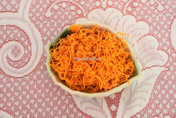 Aloo Bhujia - Potato Sev Recipe - आलू भुजिया रेसिपी - Priya R - Magic of Indian Rasoi