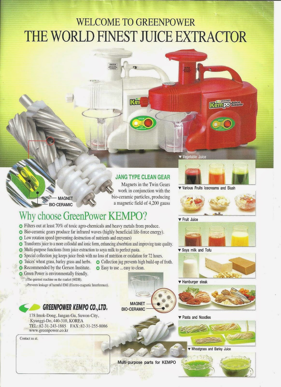 Twin gear low speed multi-function Juicer