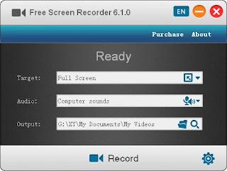 aplikasi ini juga bagus untuk merekam layar komputer kamu, aplikasi ini bisa merekam full screen