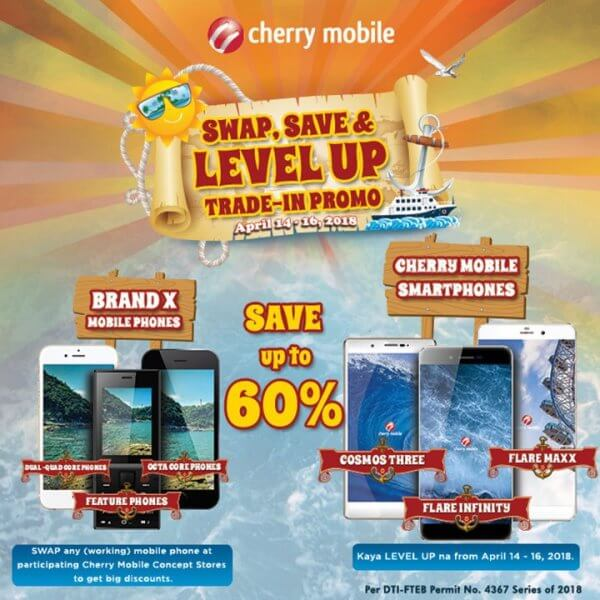 "Cherry Mobile Announces ""Swap, Save, and Level Up"" Trade-in Promo"