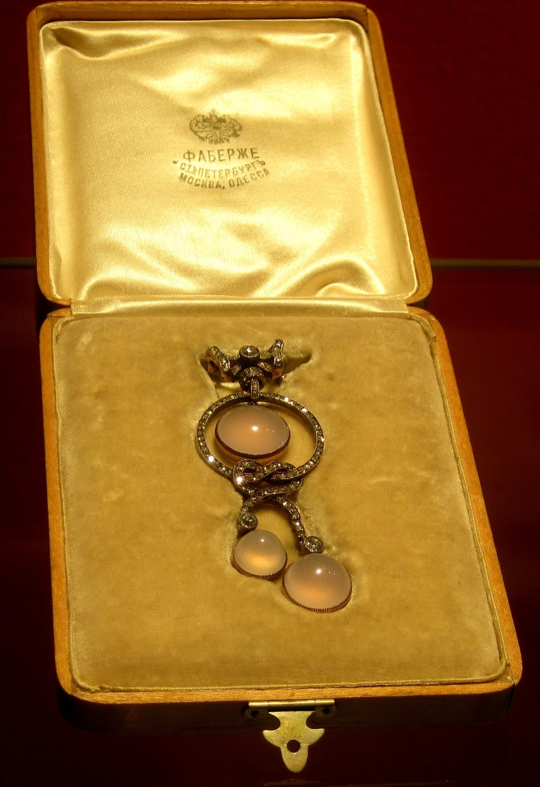 Joan Rivers' Private Collection Gold Silver Chalcedony and Diamond Fabergé Brooch [photo/edit by sookietex]