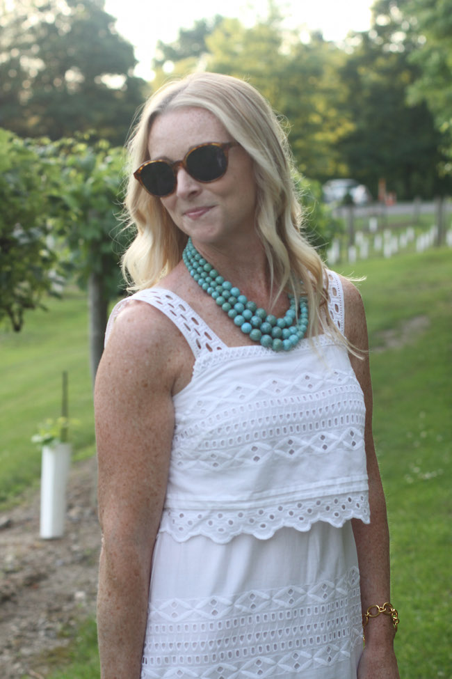 elizabeth and james sunglasses, humblechic necklace
