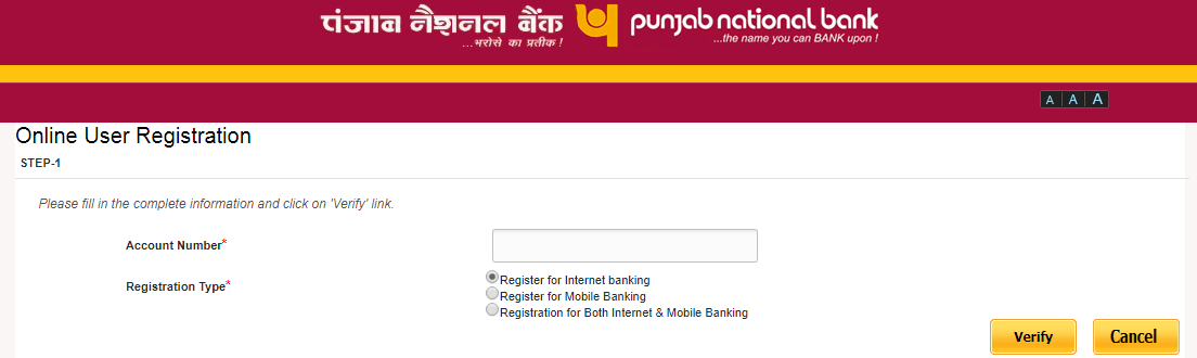 how to register online banking in pnb
