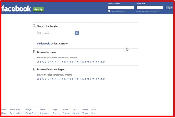 facebook view public profile without login
