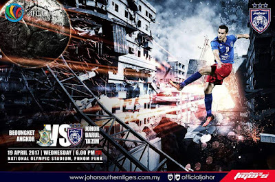 Live Streaming Boeung Ket Angkor vs JDT FC 19 April 2017 AFC CUP