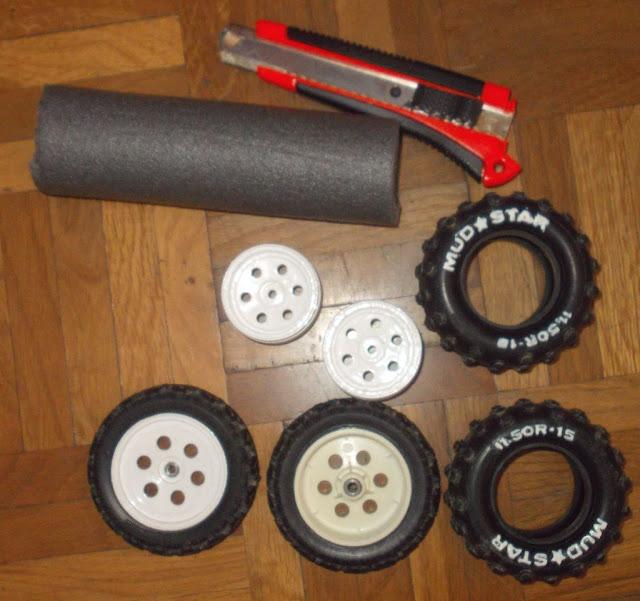 Kyosho Raider Rebuild and  Restoration (wheels). Réparation et reconstruction de Kyosho Raider (roues)