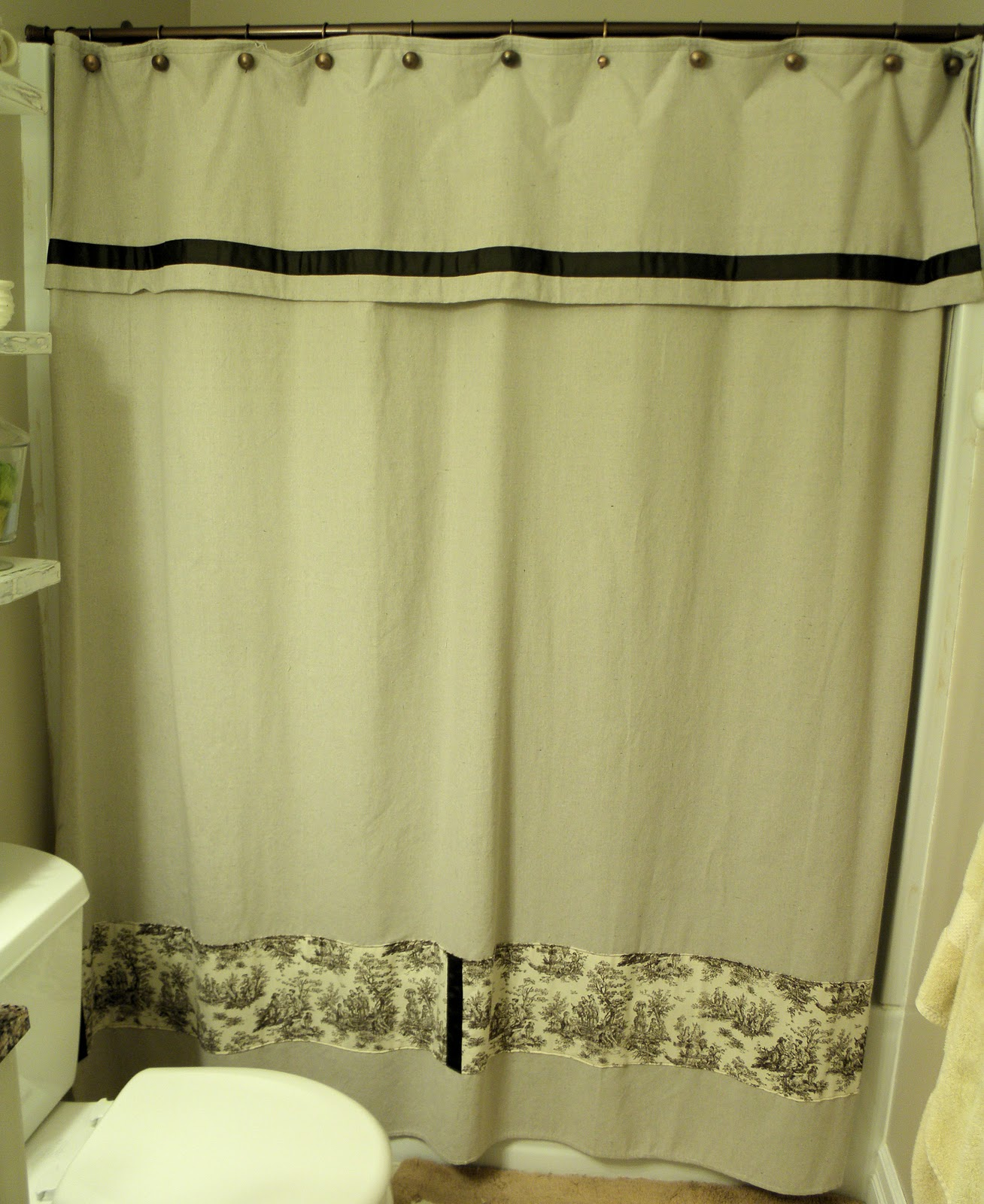 Shabby Love Drop Cloth Shower Curtain Tutorial
