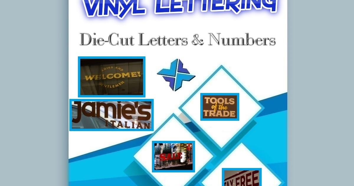 Vinyl lettering stickers die cut letters numbers printixels philippines