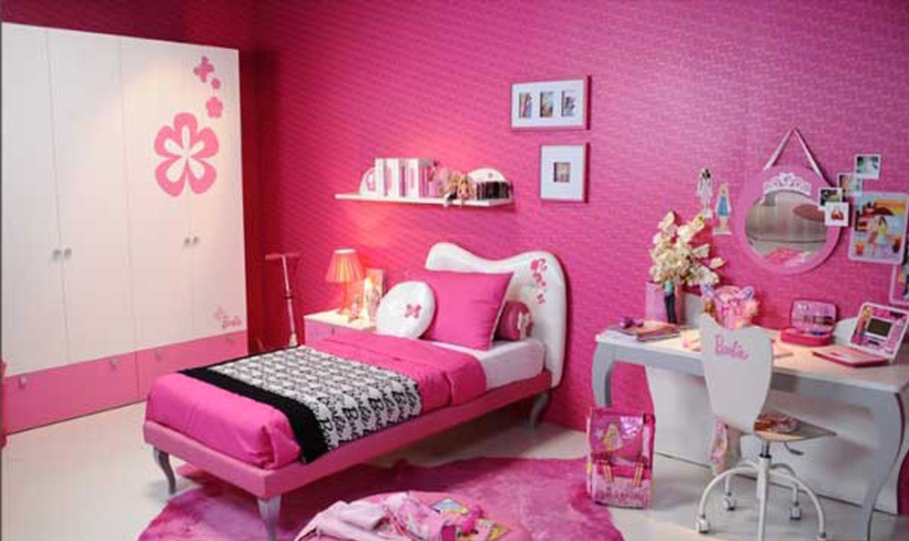 chambre coucher des filles id e d co. Black Bedroom Furniture Sets. Home Design Ideas