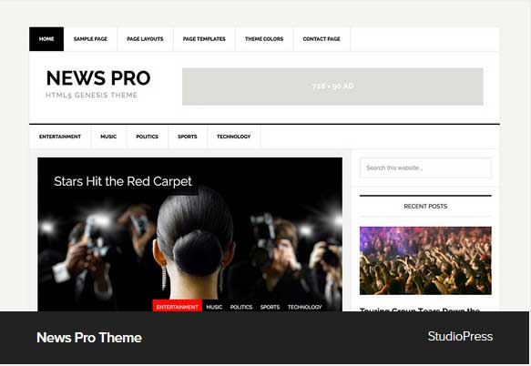 News Pro Theme Award Winning Pro Themes for Wordpress Blog : Award Winning Blog