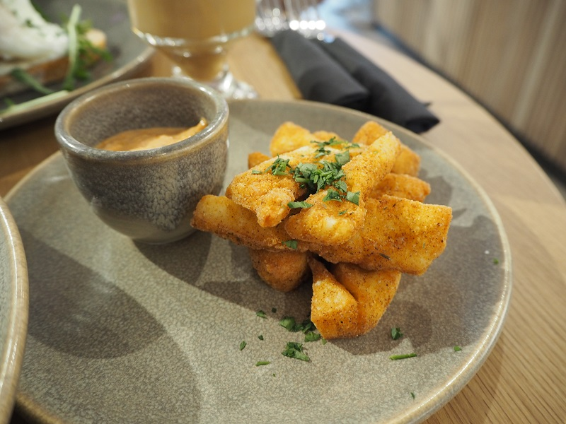 halloumi fries at the Dowry