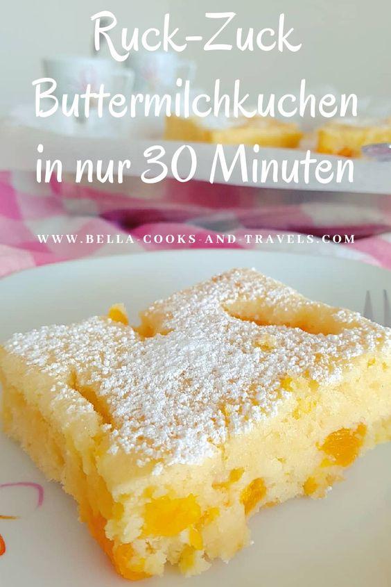 Ruck-Zuck-Rezept für saftigen Buttermilchkuchen #schnell #backen #fluffig #mandarinen