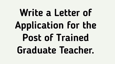 English letter format, letter for job appointment