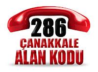 0286 Çanakkale telefon alan kodu