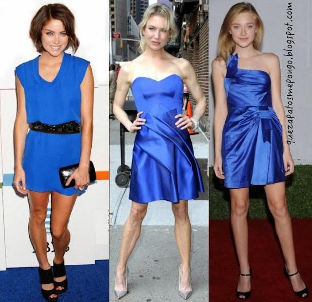 Como Combinar Zapatos Con Vestido Azul Vestidos Populares 2019